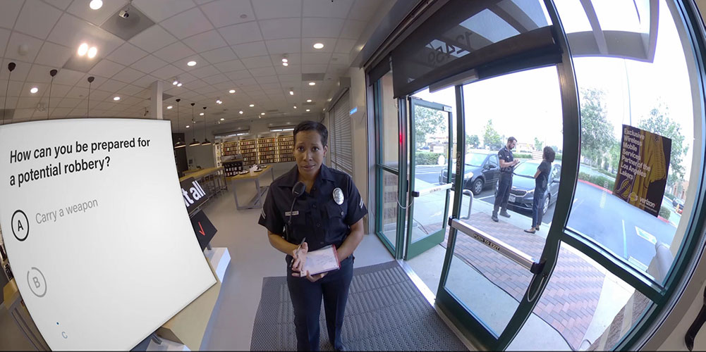 Verizon Police Woman Clip